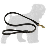 Handcrafted Braided Leather Russian Terrier Leash