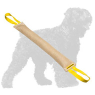 Reliable Jute Black Russian Terrier Bite Tug with 2 Handles
