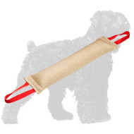 Reliable Stitched Jute Russian Terrier Bite Tug