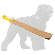 Practical Jute Black Russian Terrier Rag with Handle