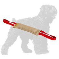 Safe Jute Russian Terrier Bite Tug with 2 Handles