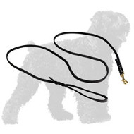 Hand-made Leather Russian Terrier Leash