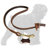 Training Leather Russian Terrier Leash with Unique Handle
