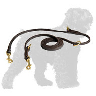 Soft English Leather Russian Terrier Leash with Several Modes