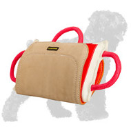 Training Russian Terrier Bite Pillow with Leather Cover
