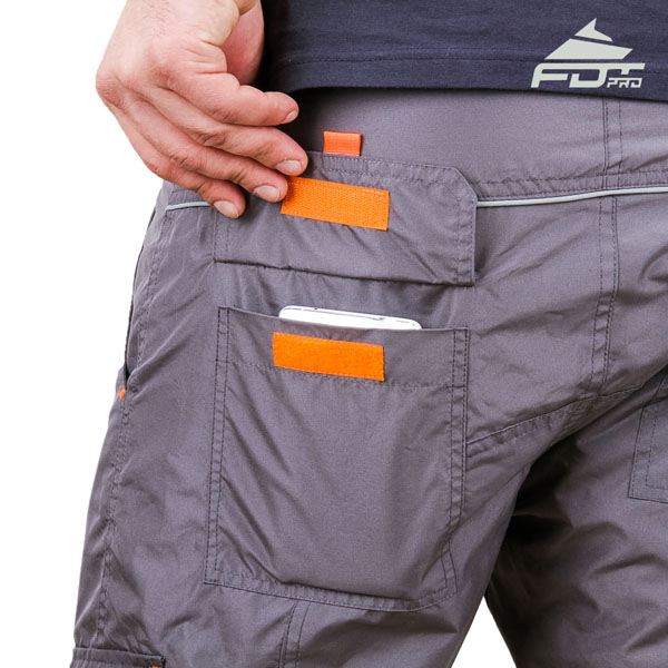 Convenient Design Pro Pants with Handy Side Pockets for Dog Training