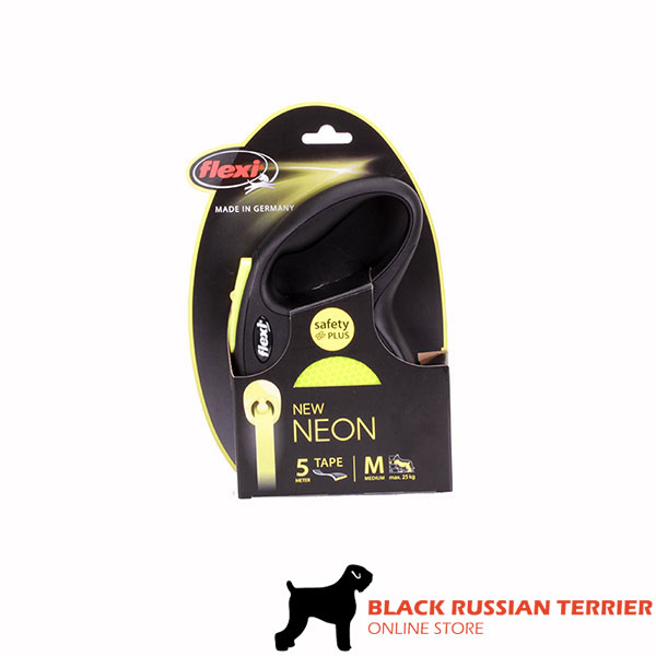 Retractable Leash with Convenient Durable Chrome Plated Snap Hook