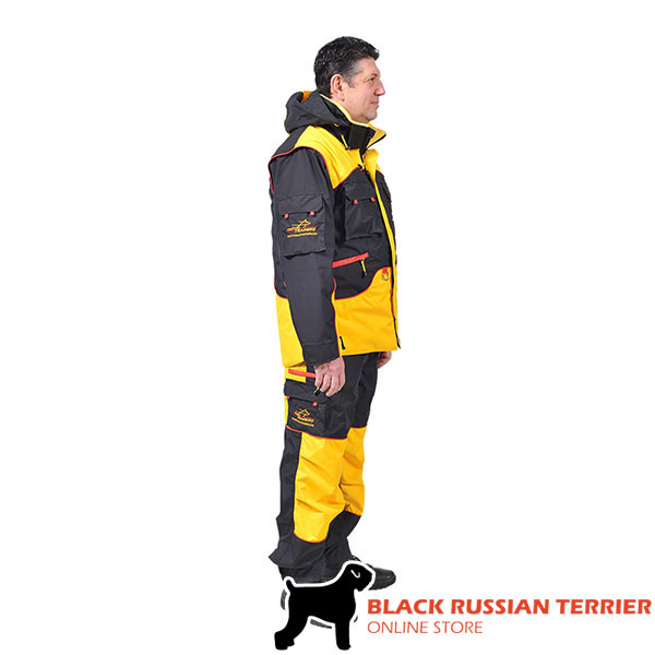 Convenient Dog Training Suit with Side Pockets