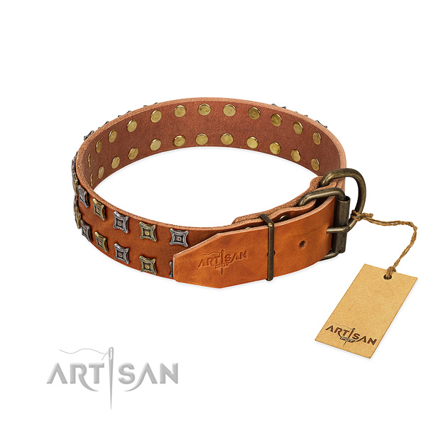 Quality leather dog collar crafted for your canine