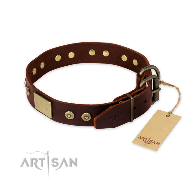 Reliable hardware on everyday use dog collar
