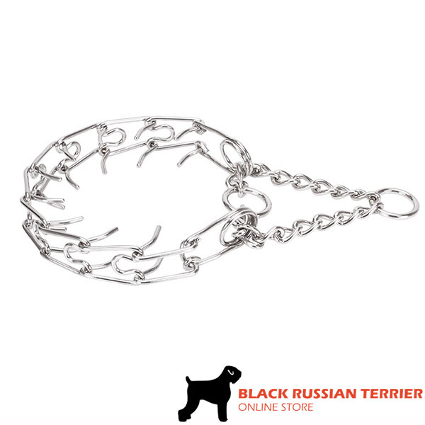 Dog prong collar of reliable stainless steel for large dogs