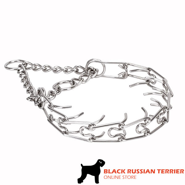 Pinch collar of durable stainless steel for badly behaved pets