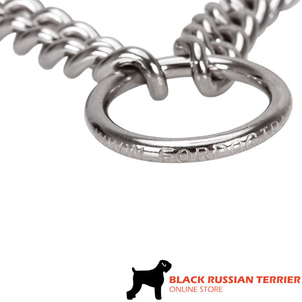 Reliable dog pinch collar of corrosion resistant stainless steel for large dogs