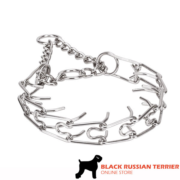 Dependable rust proof dog prong collar with stainless steel removable links