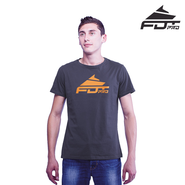 Best Quality Cotton FDT Pro Men T-shirt of Dark Grey Color