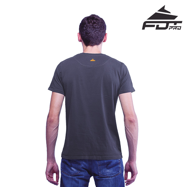 Men T-shirt Dark Grey Color FDT Professional for Dog Training