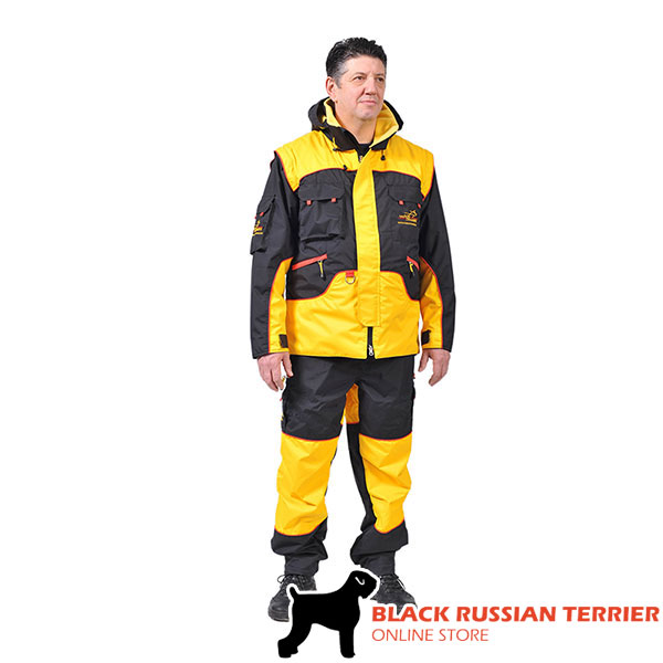 Pro Dog Training Bite Suit of Wind Resistant Membrane Fabric