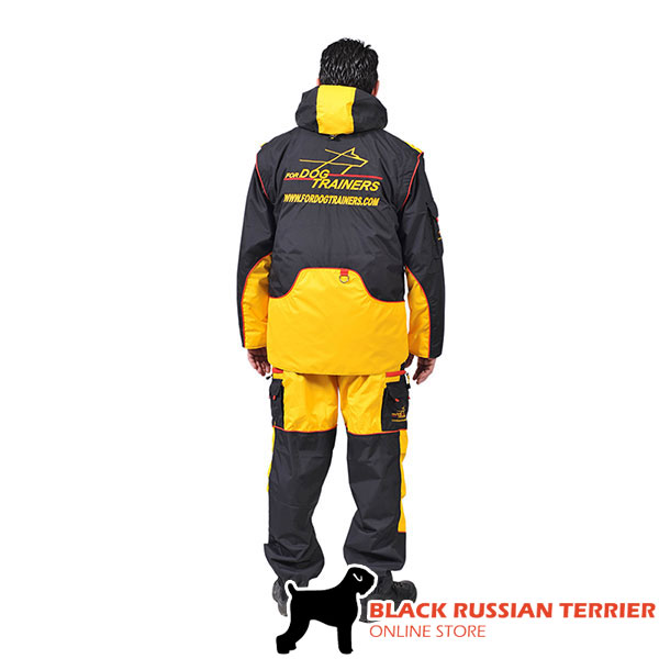 Membrane Fabric Dog Training Bite Suit with Several Pockets