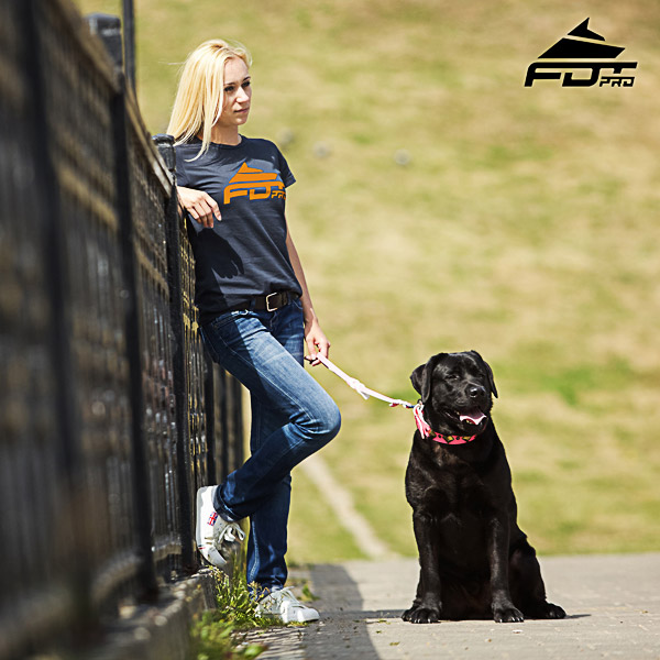 Women T-shirt of Top Notch Cotton for Dog Trainers