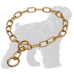 Goldish Curogan Russian Terrier Fur Saver Collar with O-ring