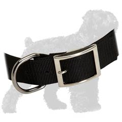 Easy to wash Black Russian Terrier nylon collar