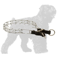 Reliable Chrome Plated Steel Dog Pinch Collar for Russian Terrier for Behavior Correction