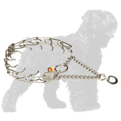 Stainless Steel Russian Terrier Prong Collar for Behavior Correction