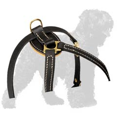 Dazzling Authentic Leather Dog Harness