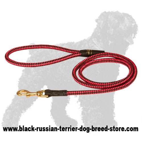Cord Nylon Black Russian Terrier Lead