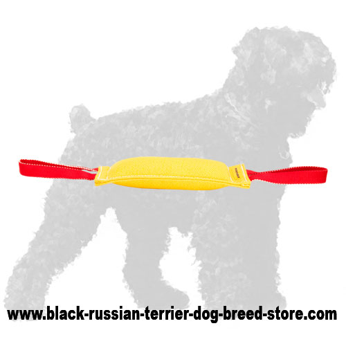 Premium Quality French Linen Russian Terrier Bite Tug
