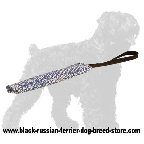 French Linen Russian Terrier Bite Tug for Puppy Training