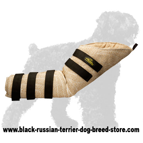 Strong Jute Hidden Bite Protection Sleeve for Russian Terriers