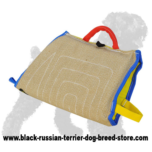 Safe Jute Russian Terrier Sleeve for Puppy Training