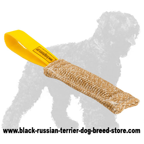 Pocket Jute Black Russian Terrier Bite Tug
