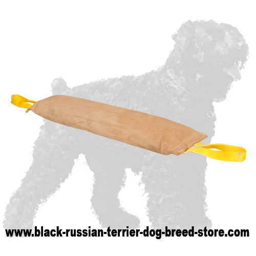 Large Leather Russian Terrier Bite Tug