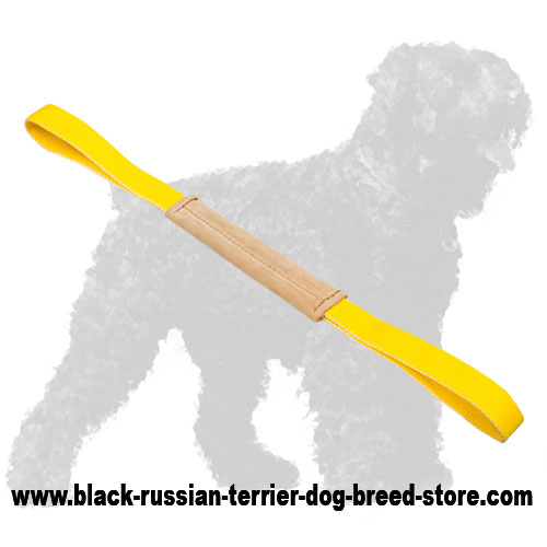 Lightweight Leather Russian Terrier Puppy Bite Tug