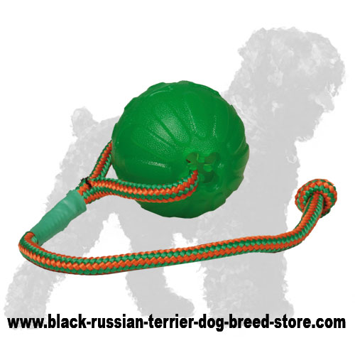 Green Foam Russian Terrier Toy on String