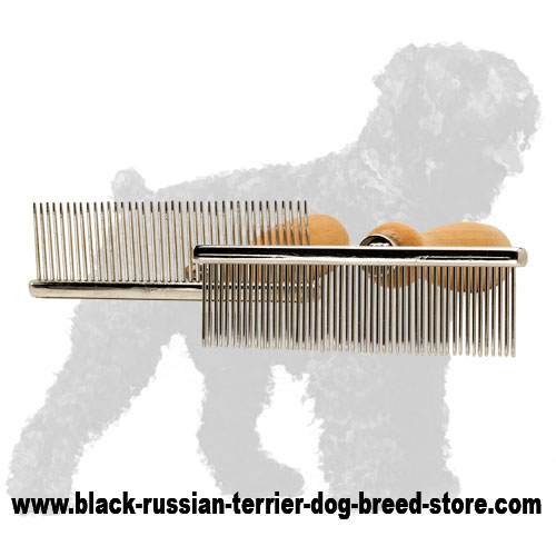 Metal Russian Terrier Brush for Grooming