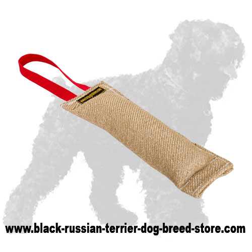 Reliable Jute Russian Terrier Tug with Handle