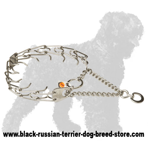 Herm Sprenger Stainless Steel Black Russian Terrier Prong Collar