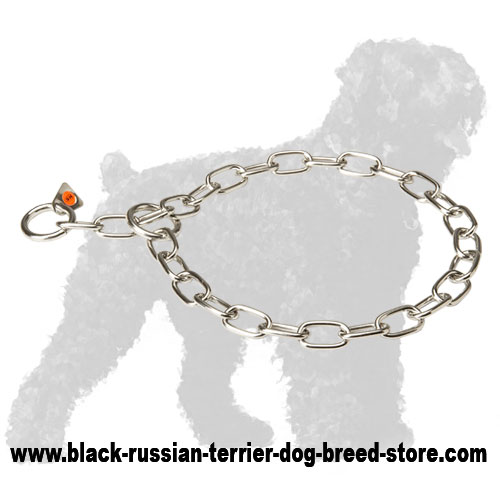 Polished Stainless Steel Russian Terrier Fur Saver