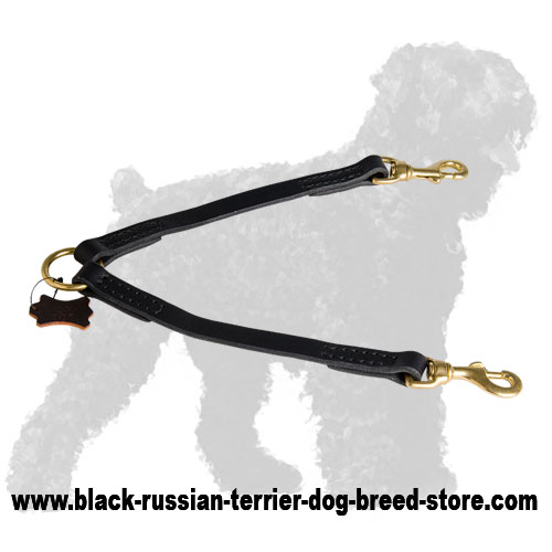 Leather Russian Terrier Coupler