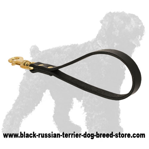 Reliable Leather Black Russian Terrier Pull Tab