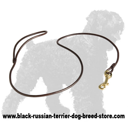 Durable Leather Russian Terrier Lead for Dog Shows
