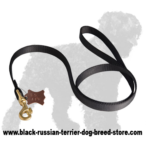 High Quality Tracking Nylon Black Russian Terrier Leash