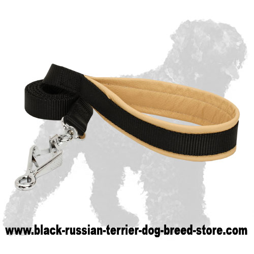 Training Nylon Russian Terrier Leash with Padded Handle