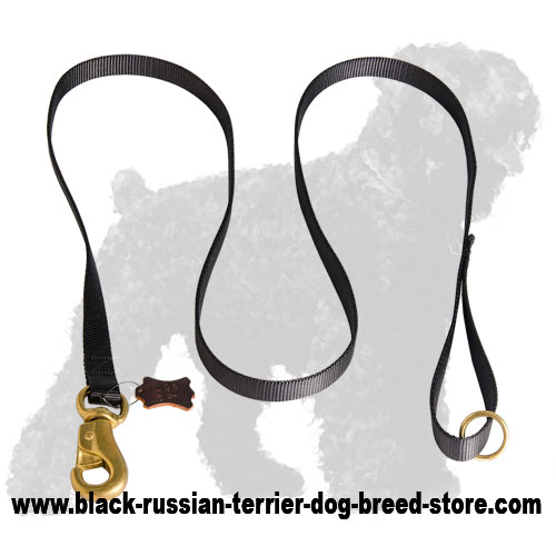 Extra Strong Russian Terrier Leash with Handle