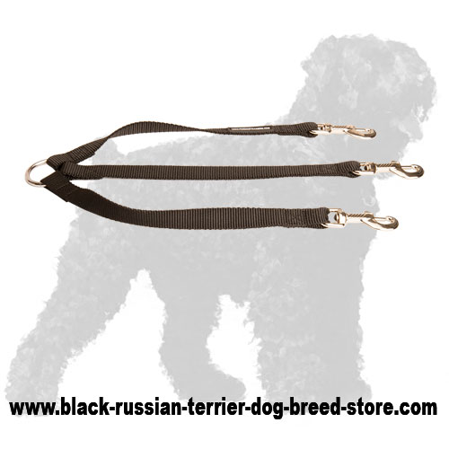 Walking Nylon Russian Terrier Triple Coupler