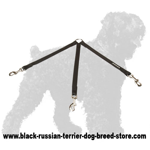 Triple Russian Terrier Coupler for Walking 3 Dogs