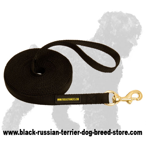 Long Servicing Nylon Russian Terrier Leash with Snap Hook